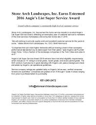 stone arch landscapes 2016 angie s list super service award our customers excellent communication and quality work all of our reviews at angieslist com learn more in our official press release below