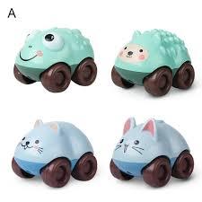 Car Toys 4Pcs <b>Cartoon</b> Animal Shape <b>Push</b>-<b>Pull</b> Sliding Magnetic ...