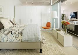 gallery loft danish bedroom photo in los angeles with white walls and light hardwood floors beautiful ikea closets convention perth contemporary bedroom