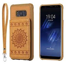 Galaxy S8 Case,DAMONDY <b>Luxury Flower Sunflower Wallet Purse</b>