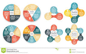 set of business circle info graphic  diagram illustration      set of business circle info graphic  diagram