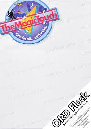 <b>ORD</b> Black Self Adhesive Flock 294 x 418 - <b>The Magic Touch</b>
