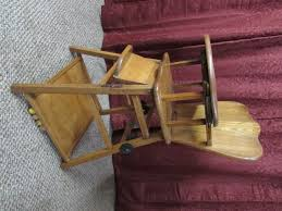 vintage wooden baby high chair antique high chairs wooden