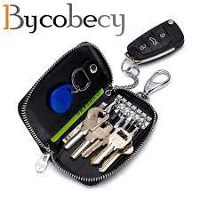 <b>BYCOBECY</b> New Fashion <b>Car</b> Key Holder Key Bag Men'S Leather ...