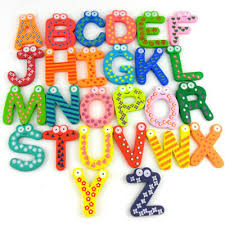 <b>Wooden Cartoon</b> Numbers Fridge Magnets Alphabet Letters And ...