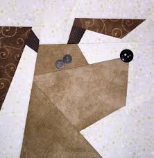 cats n dogs paper pieced quilt made by marney and here is happy dog he looks like he wants to leap right out of the quilt in glee