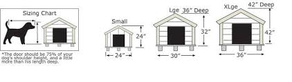 Dog Houses   Leonard Buildings  amp  Truck AccessoriesChart to help get the right size dog house for your pet