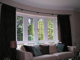 Window Dressing For Living Rooms Interior Bow Window Treatment For Elegance House Bow Window