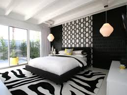 l charming bedroom decoration ideas with nice hanging lamp and black upholstered fabric platform bed on black white carpet floor 1120x840 charming bedroom ideas black white