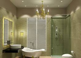 enchanting chandelier and fancy led bathroom lighting ideas in appealing room with white bathtub bathroom lighting fixtures 7