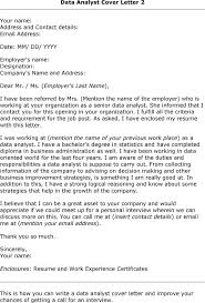 analyst cover letter data analyst  tomorrowworld coanalyst cover letter data analyst
