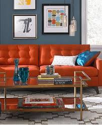 karlie fabric sofa living room furniture collection burnt orange living room furniture