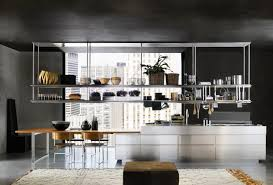 black and stainless kitchen  organized kitchen space stainless steel racks