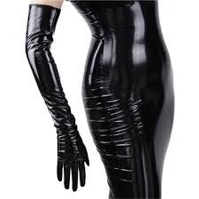 Fashionable <b>Women's</b> Long Leather <b>Gloves 70cm</b> Long Over Elbow ...