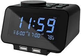 USCCE Digital Alarm Clock Radio - 0-100% Dimmer ... - Amazon.com