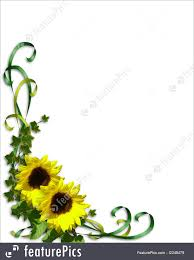 templates sunflowers wedding invitation template stock sunflowers wedding invitation template