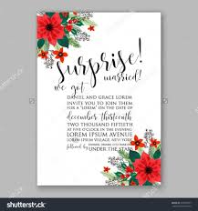 poinsettia wedding invitation sample card beautiful winter floral poinsettia wedding invitation sample card beautiful winter floral or nt christmas party wreath poinsettia pine branch fir tree needle flower bouquet