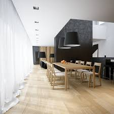 Dining Room Feature Wall Black White Pine Dining Room Scheme Large Table Interior Design