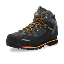 Men GOMNEAR Hiking Boots <b>Mens Leather Breathable</b> Climbing ...