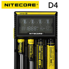 <b>100</b>% <b>Original Nitecore</b> D4 Battery Charger LCD Smart Charging for ...