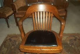 antique solid oak quarter sawed b l marble office chair antique oak office chair