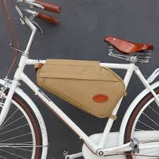 <b>Tourbon Retro Bicycle Bag</b> Bike Frame Tube Triangle Shoulder ...
