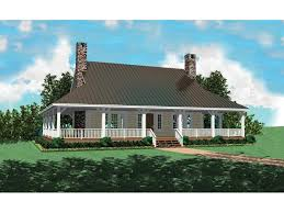 Chambersburg Mill Acadian Home Plan D    House Plans and MoreCountry Style Home With Deep Wrap Around Porch