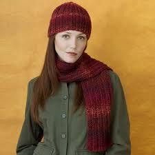 Red Heart <b>Knit Hat</b> & <b>Scarf</b> | Yarnspirations