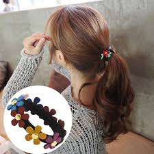 1PC New Multicolor <b>Pearls Hair</b> Holders Rubber Bands Elastics Girl ...