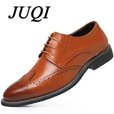 <b>JUQI</b> Genuine Leather Men Shoes Leather Business Patry Shoes ...