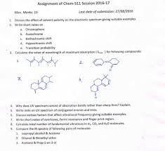 chemistry assignments of chem 511 session 2016 17