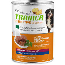 <b>Trainer Natural Sensitive No</b> Gluten Adult Lamb Medium / Maxi ...