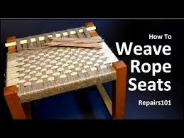 How to Weave Rope Seats - YouTube