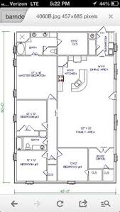 ideas about Pole Barn House Plans on Pinterest   Barn House    Barn House   workable floor plan   Add huge garage shop to end