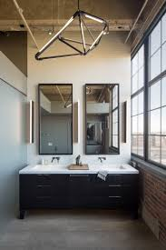 dwell bathroom ideas house of the week modern loft renovation in denver dwell master bathroom with chandelier