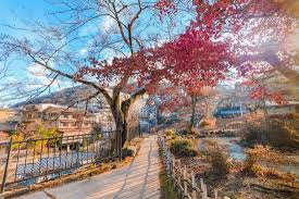 Ikaho Onsen on <b>autumn</b> is a <b>hot spring</b> town located on the eastern ...