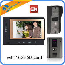 <b>7 Inch</b> Color <b>LCD Video</b> Door Phone Intercom System Door Release ...