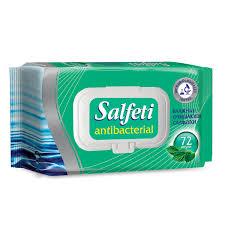 "<b>Салфетки влажные</b>, 72 шт., SALFETI ""<b>Antibacterial</b> ..."