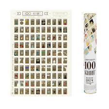 <b>Постер</b> Gift Development Скретч-<b>постер 100</b> книг