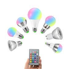 1PCS <b>E27</b> E14 GU10 Magic RGB LED Bulb Light <b>AC 110V</b> 220V ...