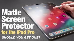 iPad Pro <b>Matte Screen Protector</b> (Should You Get One?) - YouTube
