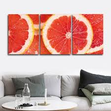 <b>Laeacco 3 Panel</b> Canvas Painting Classic Orange Art Posters Prints ...