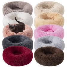 <b>Long Plush Dog Cushion</b> Bed Pet Kennel Super Soft Fluffy ...