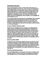 the importance of democracy   a level politics   marked by  page  zoom in