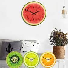 New 3D Wall Clock Simulation Fruit Wall Clock Modern ... - Vova