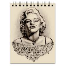 "Блокнот ""Marylin <b>Monroe</b>"" #995329 от Leichenwagen - <b>Printio</b>"