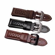 <b>22 24 26mm</b> Black Brown Real Leather Handmade Thick VINTAGE ...