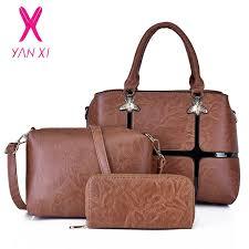 PU <b>Handbags YANXI</b> 3 Pcs/set <b>Bag for Women</b> Leather Shoulder ...