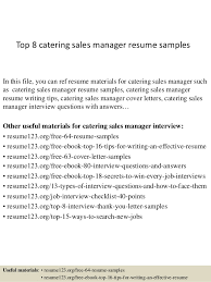 management resume guide how to write a about manager writing    resume samples for catering manager top  catering sales manager resume samples    warehouse manager resume