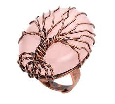 2019 <b>FYJS Copper Plated</b> Wire Wrap Tree Of Life Oval Resizable ...